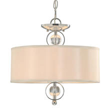 Golden Canada 1030-SF CH - Cerchi Semi-Flush (Convertible) in Chrome with Opal Satin Shade