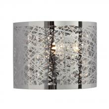 Galaxy Lighting 214780CH - 1-Light Wall Sconce in Polished Chrome - Laser Cut Metal Shade & Clear Crystal Beads