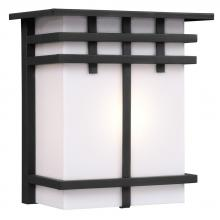 Galaxy Lighting 312490BK - Outdoor Wall Fixture - Black with White Acrylic Lens